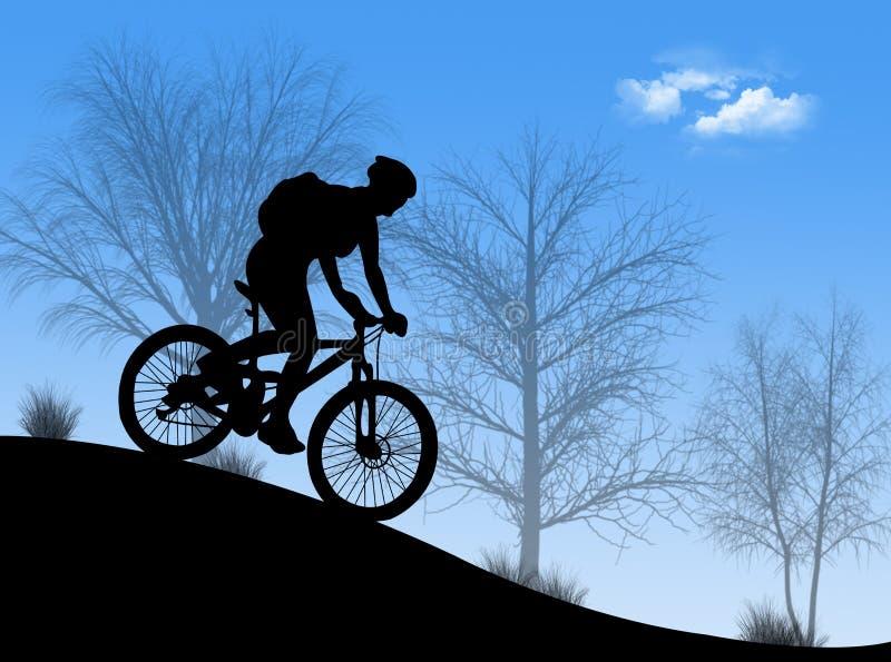 自行车山 库存例证