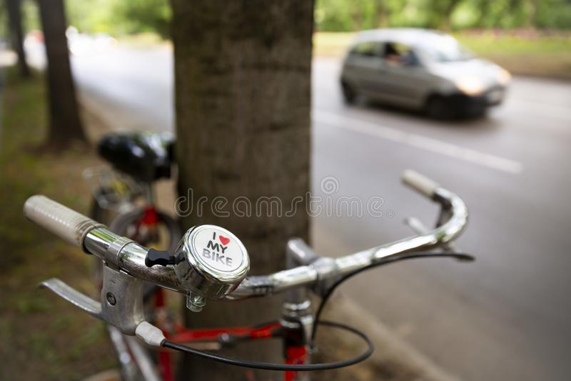 自行车我爱我 库存照片
