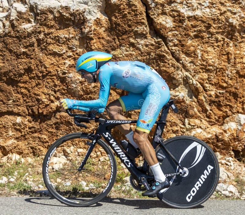 自行车手温琴佐·尼巴利 — 环法自行车赛2016 免版税库存照片