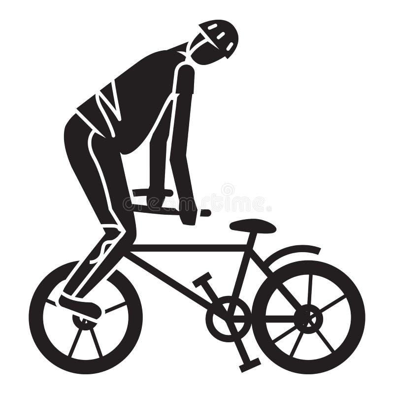 自行车把戏象,简单的样式 向量例证
