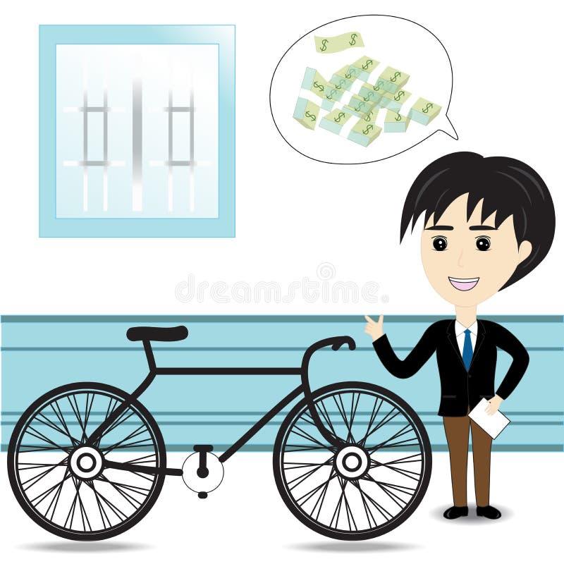 自行车推销员 皇族释放例证