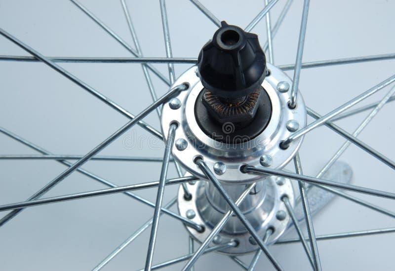 自行车插孔轮子 图库摄影
