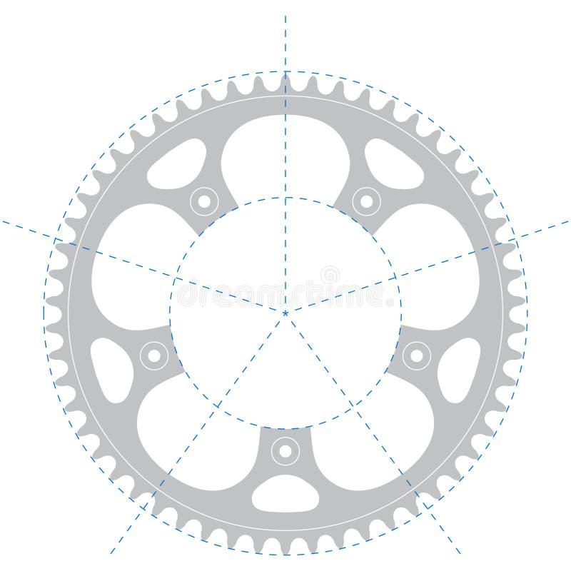 自行车摇晃的图画向量 向量例证