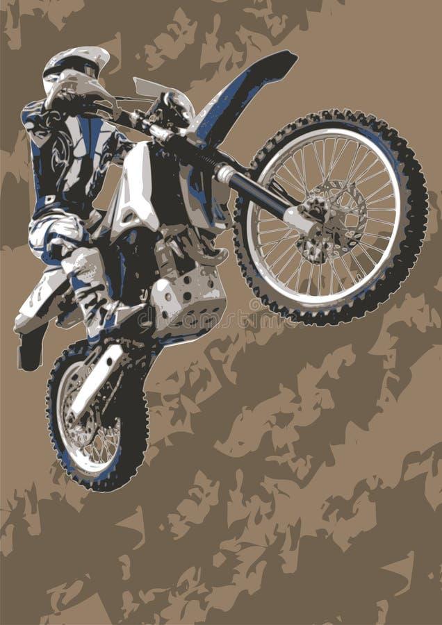 自行车摩托车越野赛 向量例证