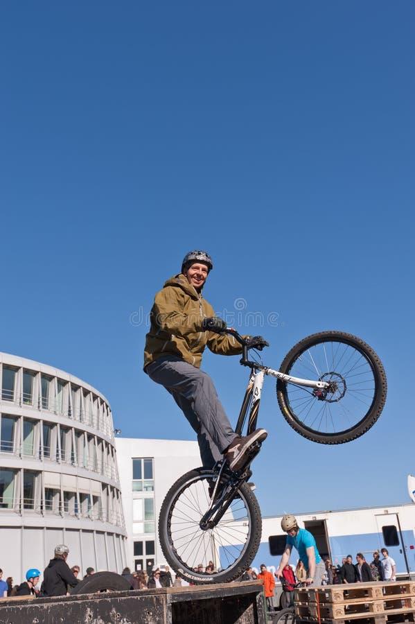 自行车显示线索 图库摄影