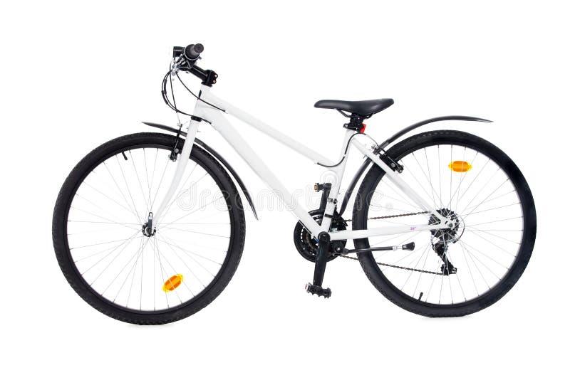 自行车查出的白色 免版税库存图片