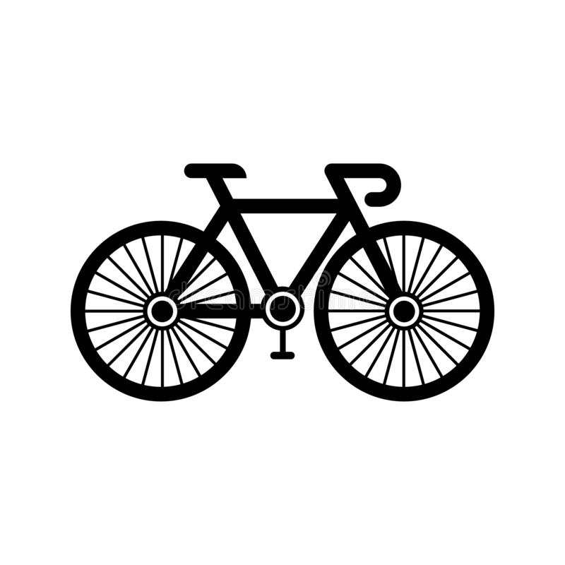 自行车标志象传染媒介 自行车在白色被隔绝的背景的例证标志 循环的商标 库存例证