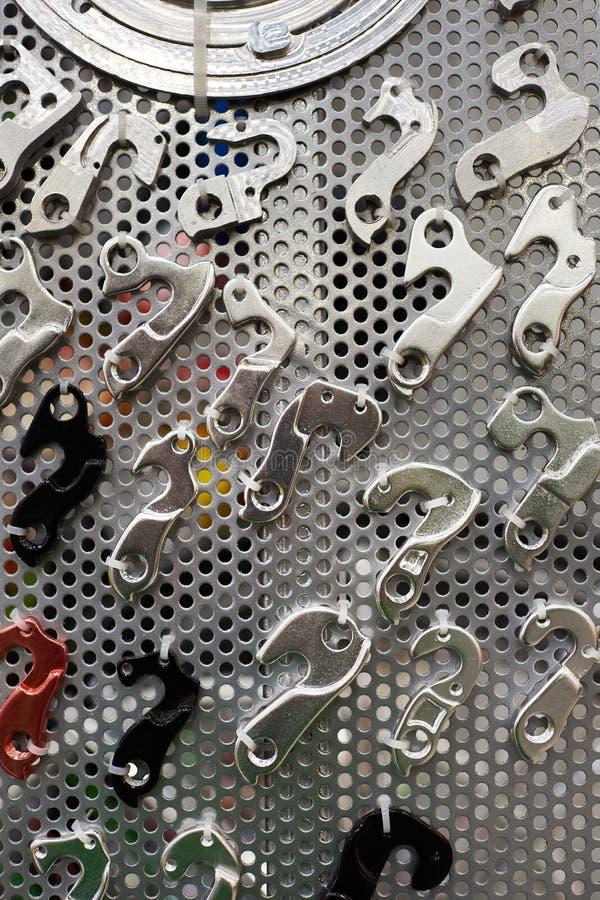 自行车框架的互换性的技巧 免版税库存照片