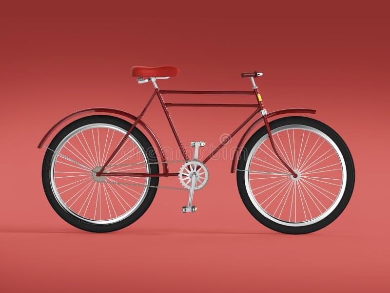 自行车概念海报设计,减速火箭的自行车在与地方的颜色backgound回报,隔绝文本的 体育行家甚而乘驾夏天 库存例证