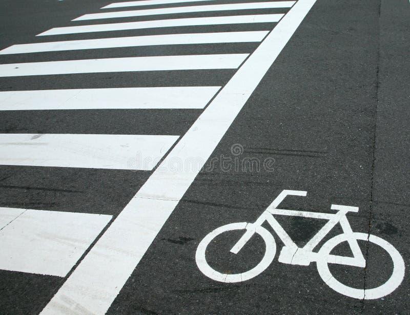 自行车横穿符号 库存图片