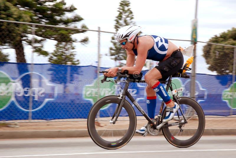 自行车比赛竞争对手 免版税库存照片