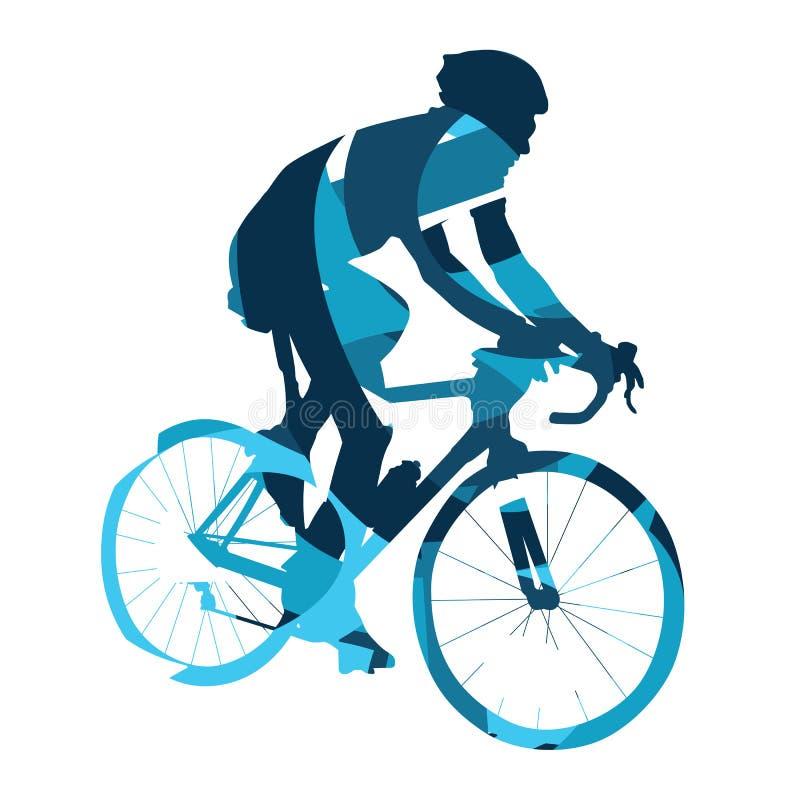 自行车比赛,抽象传染媒介骑自行车者,循环 向量例证