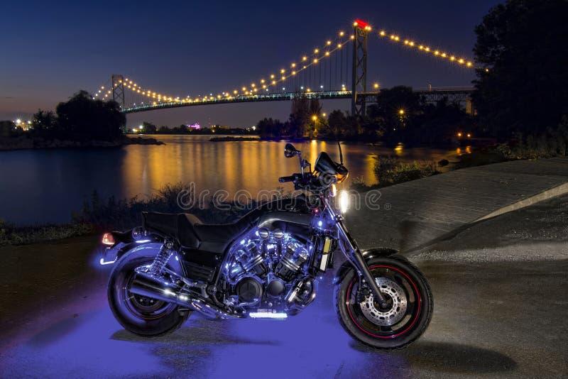 自行车河边区 库存照片