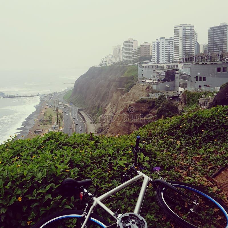 自行车海滩大厦山高速公路 免版税库存照片