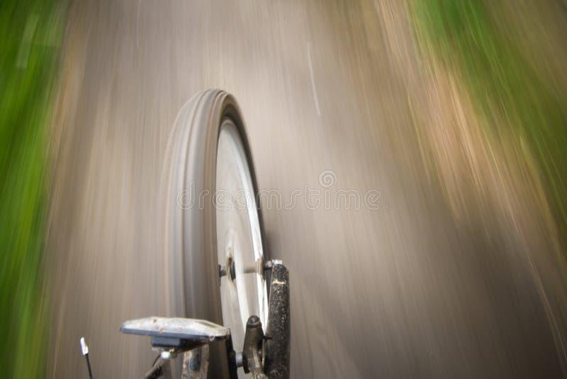 自行车移动 免版税库存照片