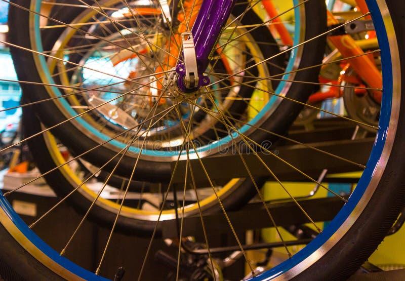 自行车空白详述的查出的系列通信工具的轮子 免版税图库摄影