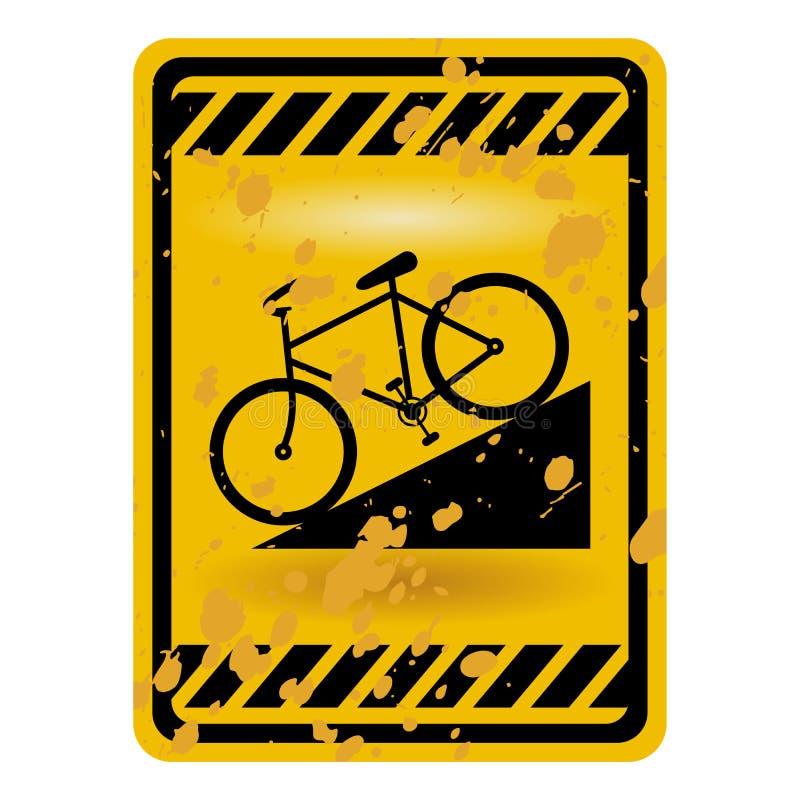 自行车符号 向量例证