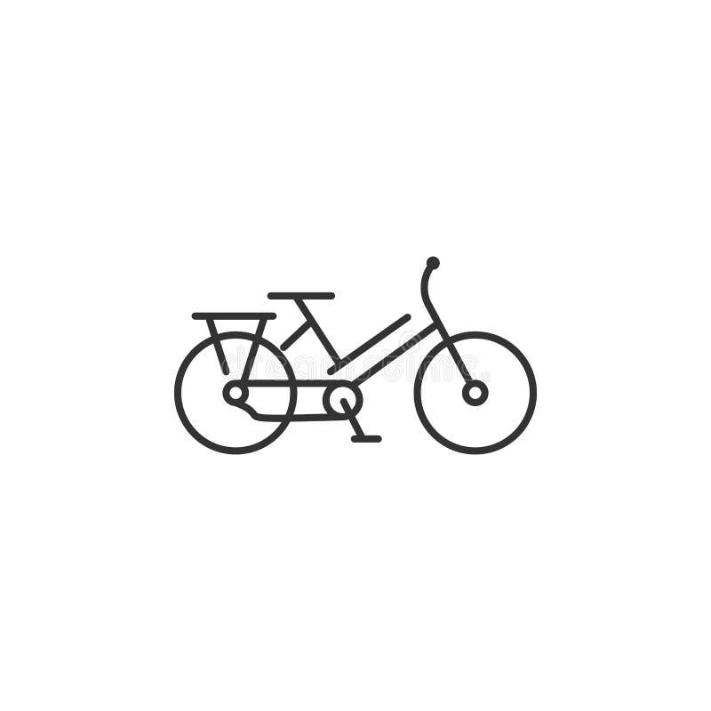 自行车线象 简单的元素例证 自行车线从生态汇集集合的标志设计 能用于网和暴民 库存例证