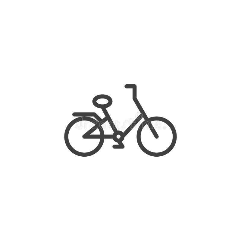 自行车线象 向量例证