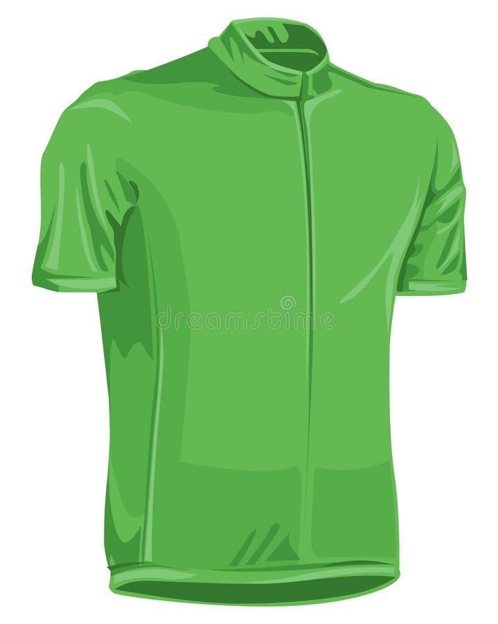 自行车绿色泽西 库存图片