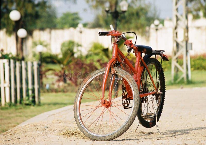 自行车老挝红色 库存图片