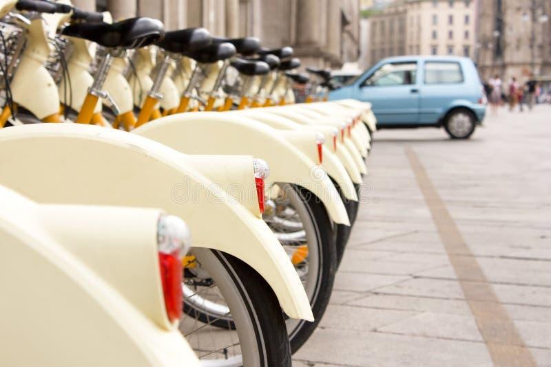 自行车聘用 免版税库存图片