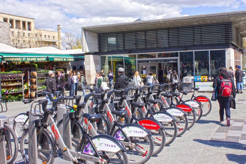 自行车蒙特利尔公共 免版税库存图片