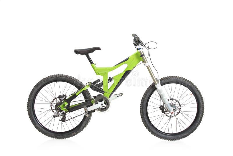 自行车视图黄色 免版税图库摄影