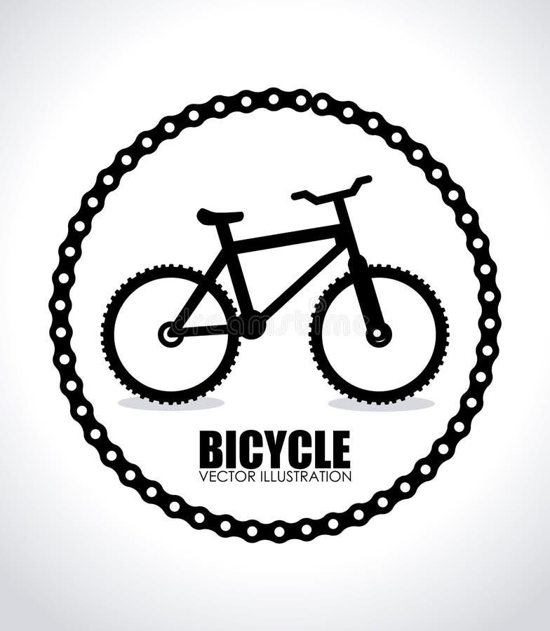 自行车设计 库存例证