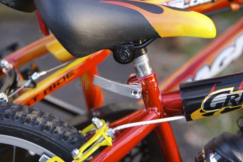 自行车详细资料孩子 免版税图库摄影