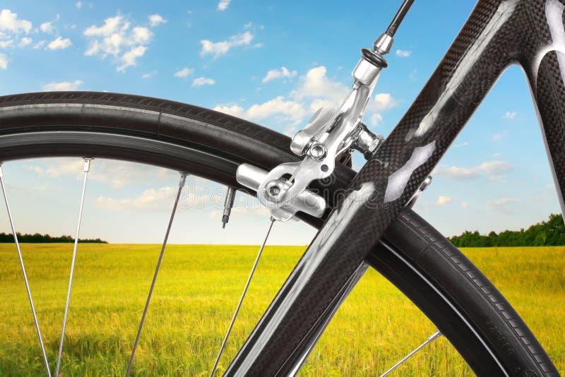 自行车详细资料路 库存图片