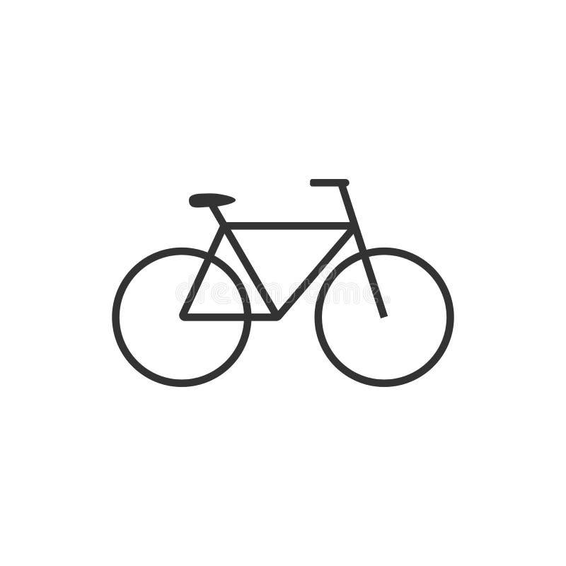 自行车象 自行车象 传染媒介例证,平的设计 库存例证