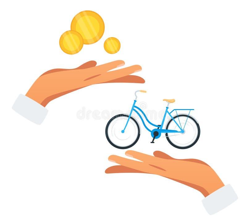 自行车购买平的传染媒介例证 库存照片