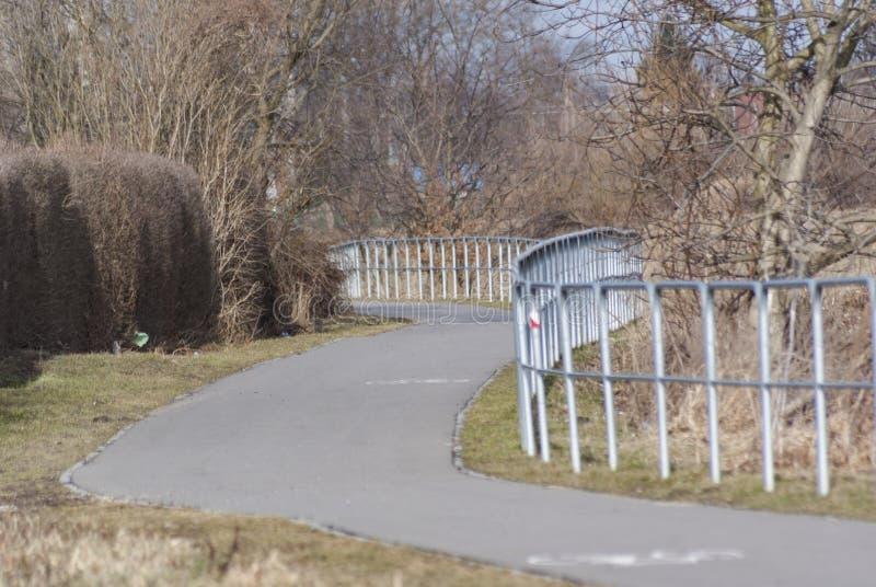 自行车赛车道 免版税图库摄影