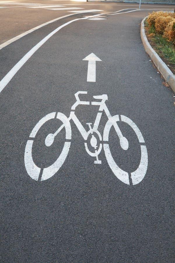 自行车路标 免版税库存照片