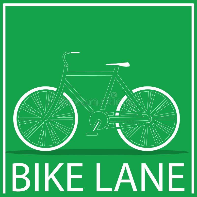 自行车路线标志 库存例证