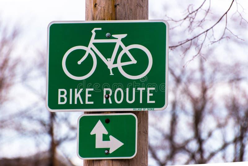 自行车路线标志 图库摄影