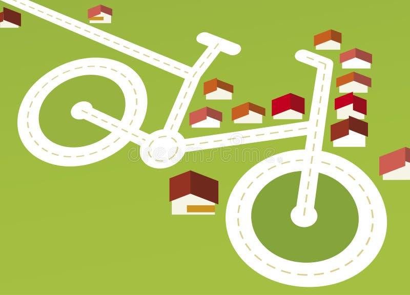 自行车路 向量例证