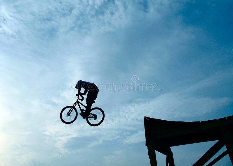 自行车跳接器山 免版税库存图片
