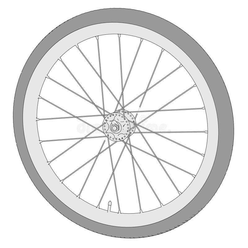 自行车车轮的图象 向量例证