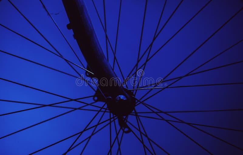 自行车车轮的细节 免版税库存图片