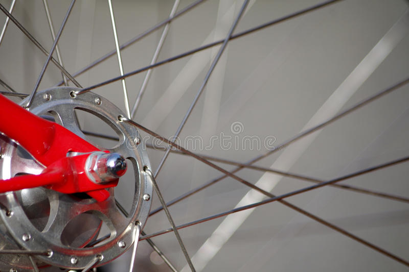 自行车车轮轮幅 库存图片