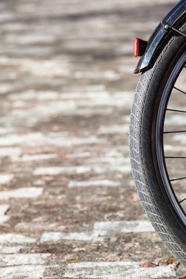 自行车车轮细节 免版税库存图片