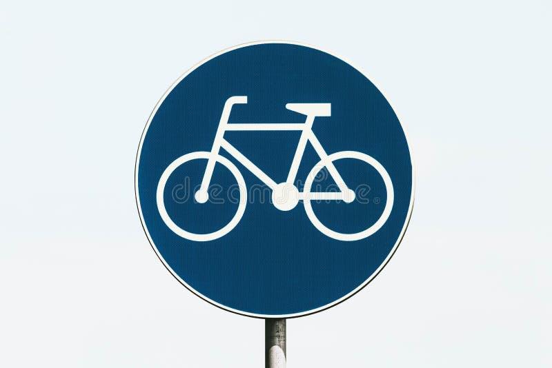 自行车车道/自行车唯一的路标 免版税库存图片