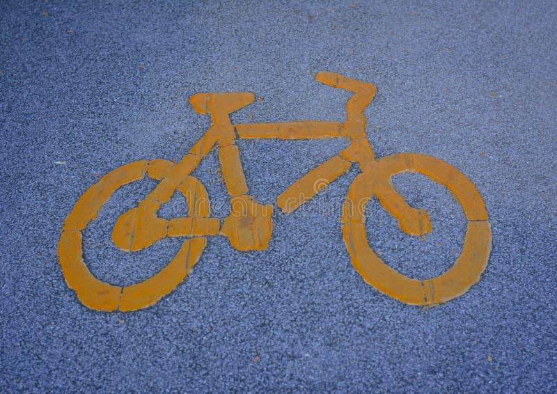 自行车车道 免版税图库摄影