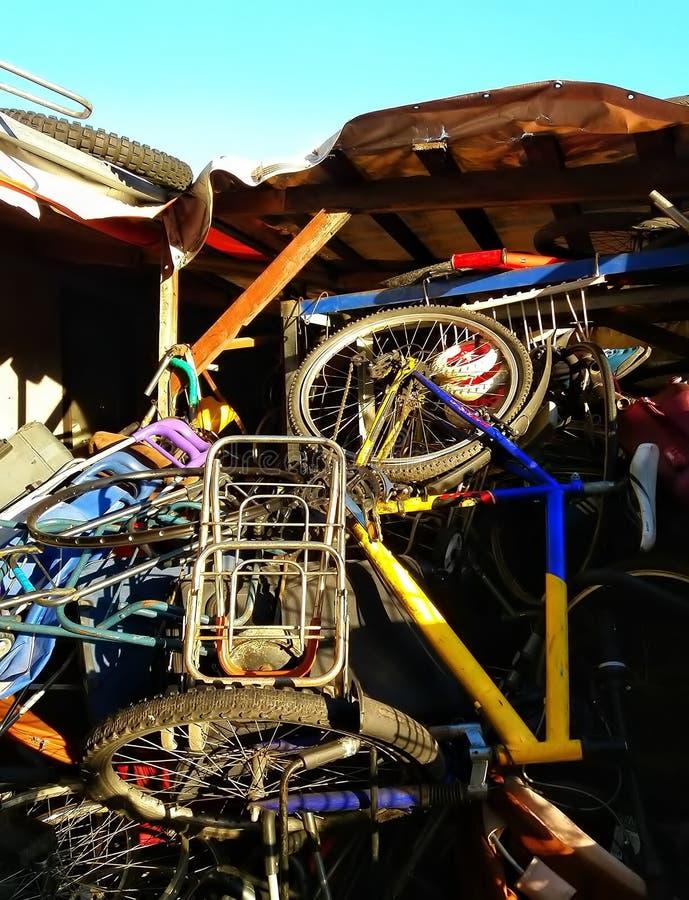 自行车车间 免版税库存图片
