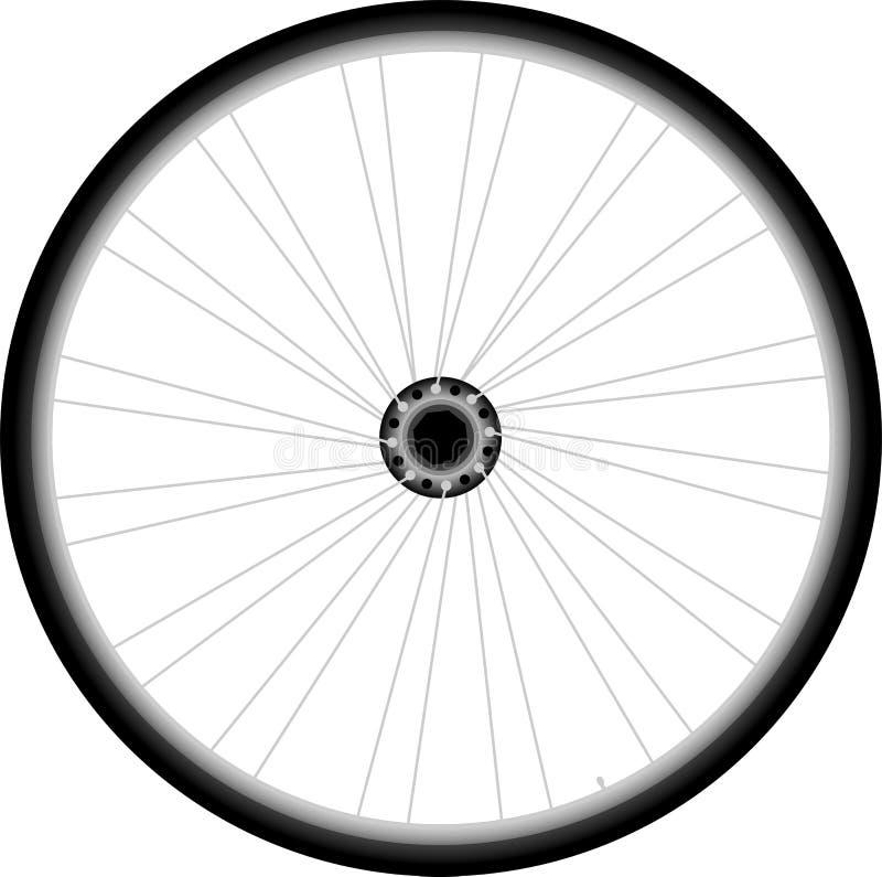 自行车轮子-在空白背景的向量 皇族释放例证