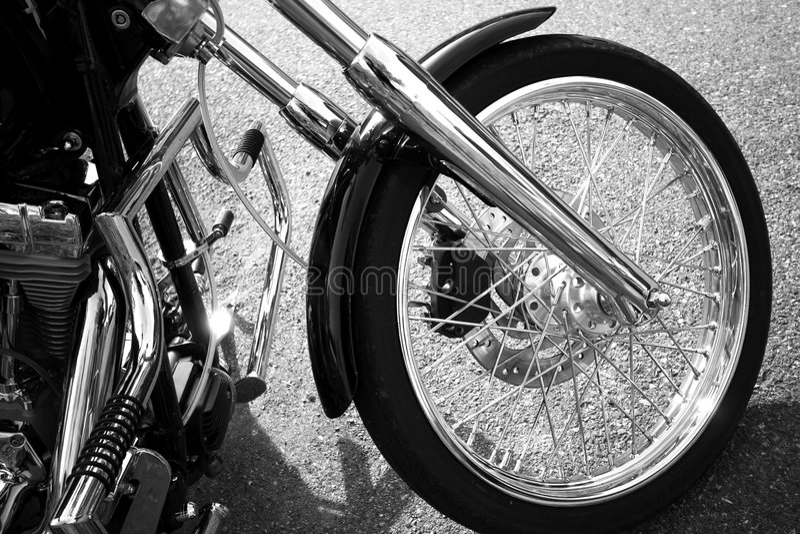 自行车轮子 免版税库存照片