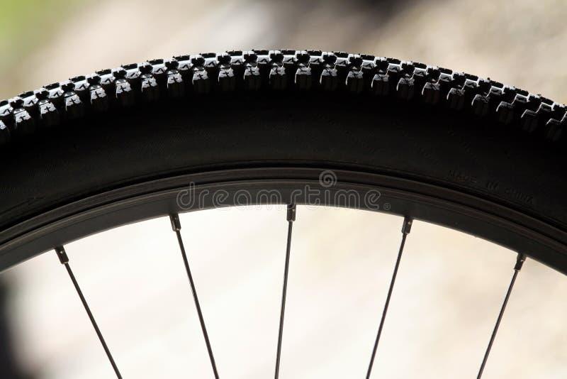 自行车轮幅轮胎 库存照片