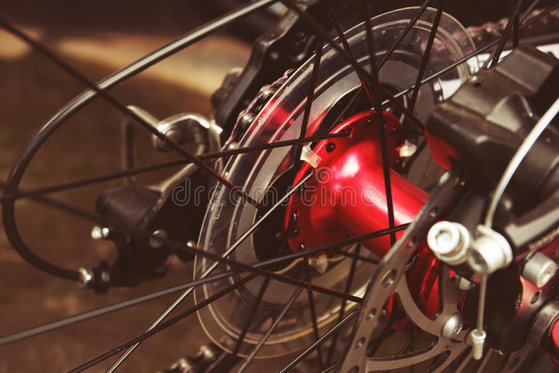 自行车轮幅 库存照片